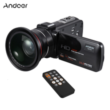 Andoer HDV-Z20 1080P Full HD 24MP WiFi Digital Video Camera Camcorder with 0.39X Wide Angle + Macro Lens LCD Touchscreen(China)