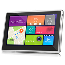 5 inch Car Tablet GPS Navigation Android 4.4 Touch Screen 170 Degree 1080P DVR WiFi / FM Multi-media Player with free Map