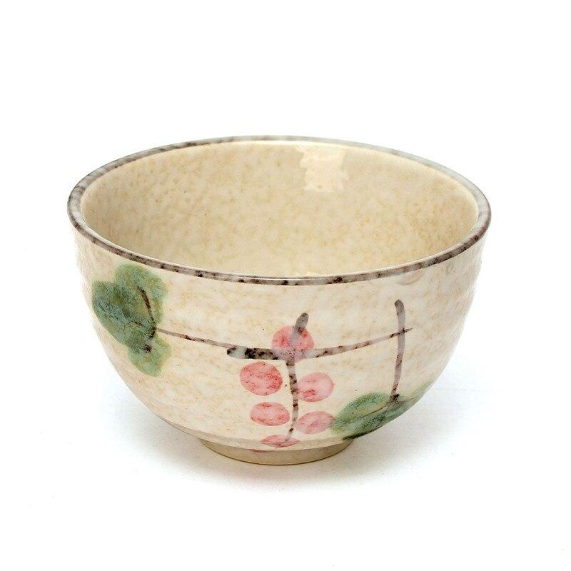 4Pcs/Set Tea Service Bamboo Natural Matcha Green Tea Powder Whisk Scoop Ceramic Bowl Set Japanese Teaware Ceremony 5