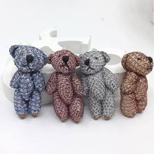 "Bulk 4.5cm(1.8"") Plush Mini Joint Bare Teddy Bear Bouquet/Phone/bag 4Color Optional"