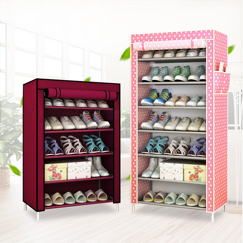 Shoe cabinet Multi-layer Non-woven fabrics large shoe rack organizer removable shoe storage for home minimalist furniture<br>