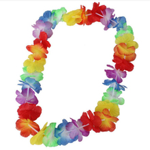 5Pcs NEW Hawaiian Colorful Leis Beach Theme Luau Party Flower Necklace Garlands For Party Decoration
