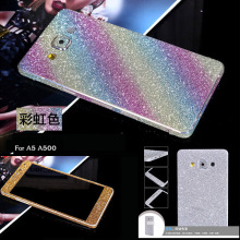 Buy Luxury PVC Bling Glitter Rhinestone Full Body Sticker Film Case Samsung Galaxy A5 A500 2015 Sparking Screen Protector Guard for $1.10 in AliExpress store