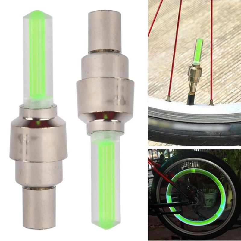 1 Pair 4 Colors Tire Wheel Lamp Fireflys LED Flash Light Lamp Night Bike Safety Light Tire Wheel Spoke Valve Cap Bicycle Light