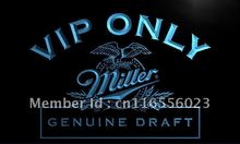 LA423- VIP Only Miller Beer LED Neon Light Sign home decor crafts(China)