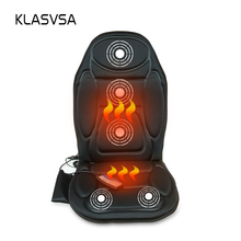 KLASVSA Massage Chair Seat Massager Heat Vibrate Cushion Back Neck Massage Chair Car Pain Massage Relaxation massageador(China)