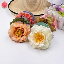 2pcs Big 9cm Silk Artificial Peony Flowers Head For Wedding Home Room Decoration DIY Scrapbooking Handmade Wreath Hats Flowers(China)