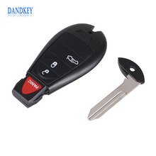 Dandkey 10X For Dodge Charger Magnum Challenger Chrysler 300 2008-2012 3 + 1 Panic 4 Buttons Smart Remote FOB Key Car Keyless