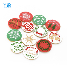 YO 12pcs/lot Christmas Decoration Stencil Cookie Moulds Fondant Cake Decorating Tools Cookie Stencil, Send a Video(China)