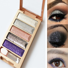 Pigment Makeup Eyeshadow Pallette to Eye Kit Maquiagem Eye Shadow Beauty Make Up Pallette 5 Colors Diamond High Quality