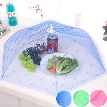 Foldable Food Umbrella Cover Fly Wasp Insect Net Picnic Kitchen Party Mesh Net Household Dust Covers(China)