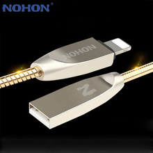 NOHON For Apple USB Cable Metal Fast Charging USB Cable For iPhone 7 6 6S Plus 5 5S SE iPad iPod iOS 8 9 10 Phone Data Sync Wire(China)