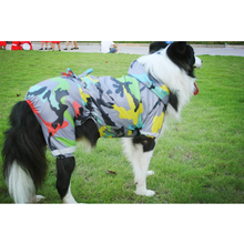 Cool Camouflage Pet Dog Raincoat Hooded Waterproof Rain Dog Jacket Four Leg Large Dogs Coats Costume From 3XL to 9XL Pet Product