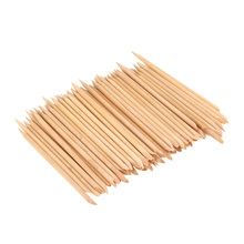 Nail Art Design Orange Wood Stick Cuticle Pusher Remover Manicure Care Professional Manicure Nail Tools Accessories 100pcs/set
