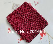 BARGAIN for BULK  4.5inches width garnet color  Elastic Crochet headbands for making waffle hats