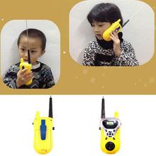 2pcs/lot Intercom Electronic Walkie Talkies Toy Children Portable Two-Way Radio Mini Cartoon Toy Interphone Clectronic Came(China)
