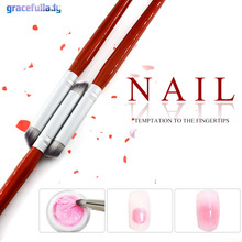 2pcs/set Nail Art Brush UV Gel Painting Drawing Manicure Pen Tools DIY Accessory Pigment gradient pen Nail painting