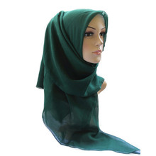 Hot Large Muslim Voile Square Hijab Scarf Islamic Shawls Wraps With High Quality Chiffon