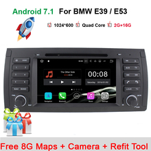 "In Stock 7"" Touch Screen Car DVD Player for BMW E39 Navigation Android 7.1 E53 X5 with Wifi 3G Bluetooth Radio Canbus 16GB(China)"