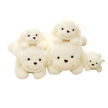 2017 HOT NEW Lovely Lying Puppy Plush Dog Pillow Cushion Kids Toys Stuffed Animal Doll Birthday Gift Pet Dolls Stuffing Toy MR61(China)
