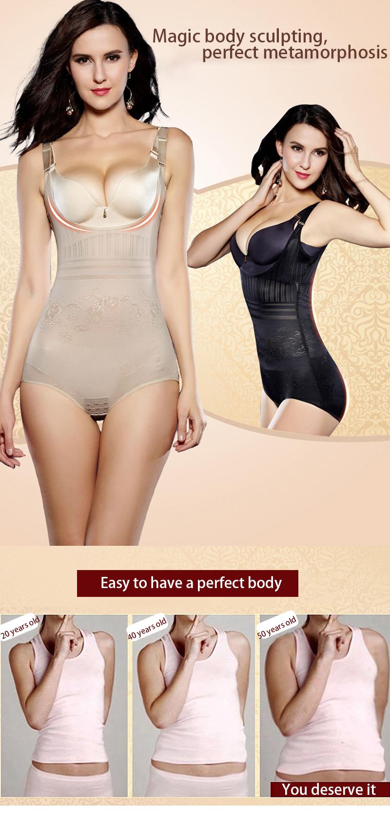 Women Post Natal Postpartum Slimming Underwear Shaper Recover Bodysuits Shapewear Waist Corset Girdle Black/Apricot Hot sale 4