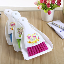 1PC 3 Colors Creative home mini computer brush with dustpan small broom suit desktop cleaning brush J0725