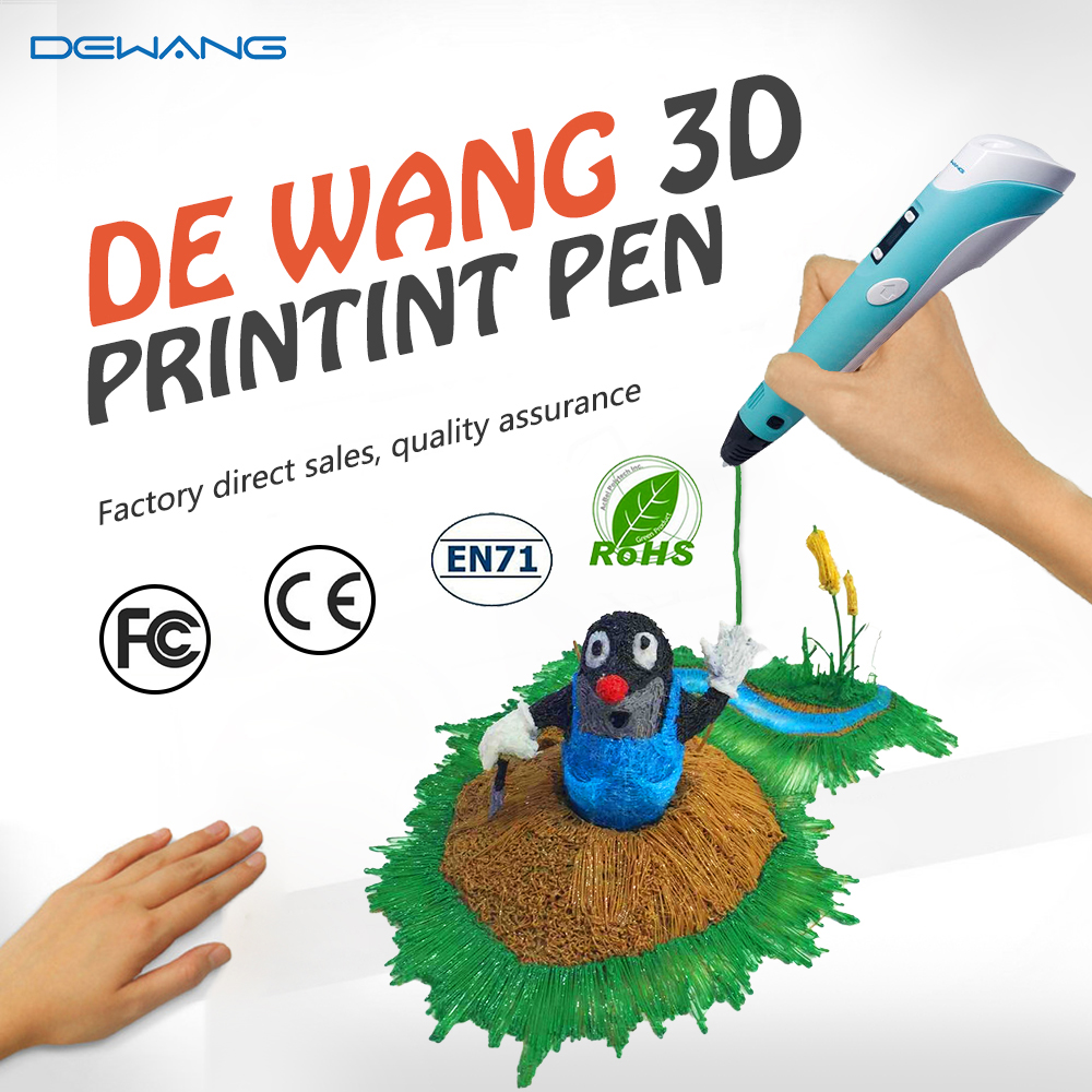 Best 3D Printer Pen 1.75mm ABS/PLA Smart 3D Pens 100M Free Filament For Kids Birthday Gift 3d Drawing Pen