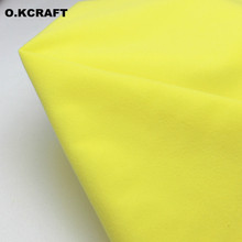 50*150cm Lemon Solid Color Fleece Fabric Tilda Plush Cloth Anti-Pilling Velvet Fleece Doll Tissue Fusible as Loop Fabrics Felt(China)