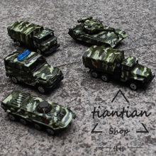 1:60 Alloy car model military vehicle series 5pcs Children like the gift Family small ornaments worth collecting Metal Material(China)