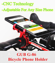 GUB Universal Motorcycle MTB Bike Phone Holder On The Handlebar Aluminum Alloy Bicycle Phone Support GPS Bike Accessories