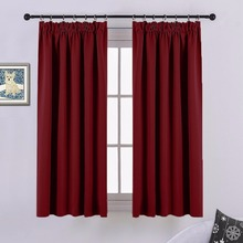 NICETOWN Plain Thermal Insulated Pencil Pleat Blackout Window Curtain Drapes for Living Room / Bedroom / Baby Room / Office