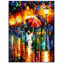 5D DIY diamond painting cross stitch Needlework diamond mosaic diamond embroidery Paris red umbrella pattern hobbies and crafts
