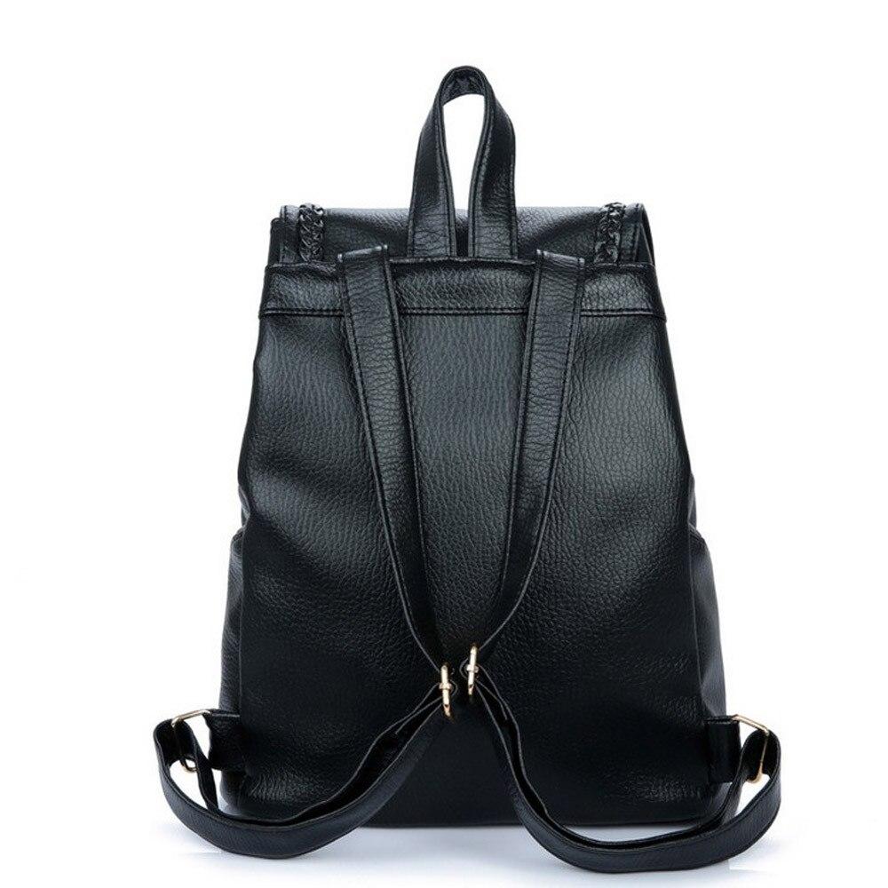 08b748db5950 Backpack Female School Bags Leather Backpack Women Schoolbag Zipper ...
