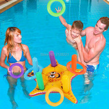 Inflatable Water Toy Inflatable Starfish Ring Toss Game Water Sports Party Supplies Children Throwing Ring Toys Blow Up Toys