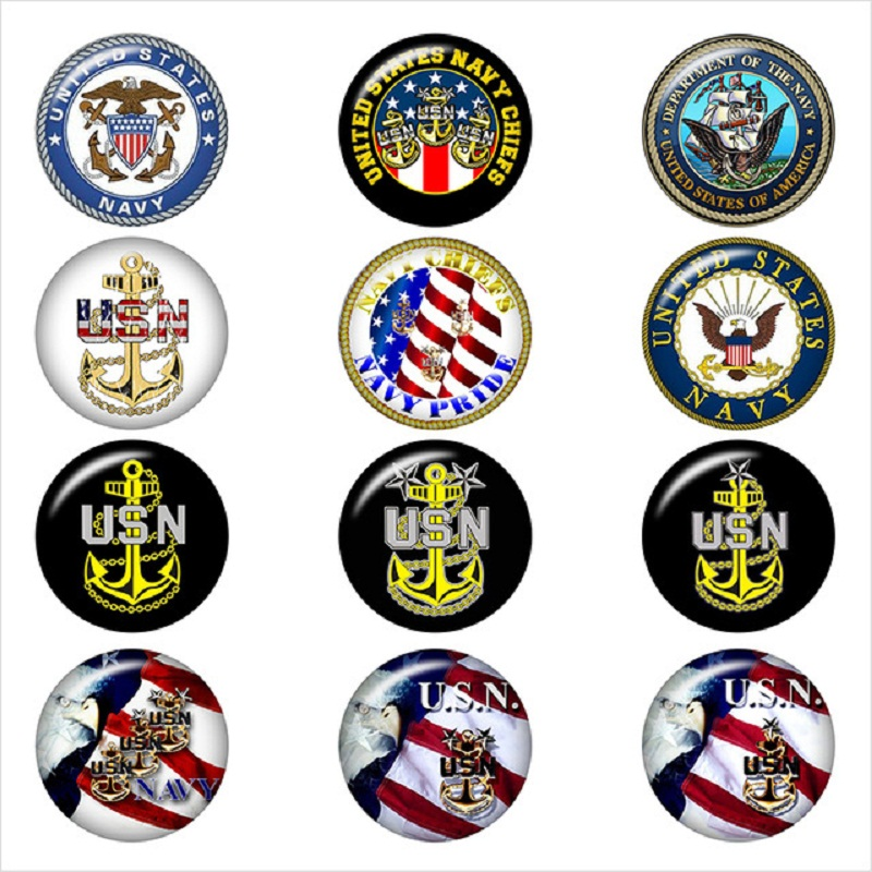 NAVY-chief-USN-glass-snap-button-DIY-jewelry-Round-photo-cabochons-flat-back-DA1203.jpg_640x640