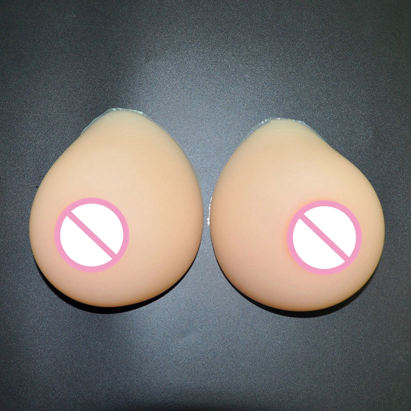 800g/pair L Size Realistic Breast Forms Silicone Breast for Crossdresser Mastectomy Boob Prosthesis Shemale Fake Breasts<br>