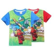 New 4-10y Summer Kids Boys T-shirt Ninja Ninjago T Shirts Children Clothing Cotton Top Tees Boys Girls Kids Costume Boys Clothes