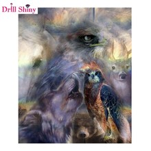 Buy Diamond Mosaic Full Gear 5D Diy Diamond Embroidery Cross Stitch Kits Round Diamond Painting Animals Wolf Owl Horse Christmas for $4.60 in AliExpress store