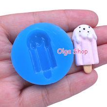 XYL093 Ice Cream Bar Silicone Mould 34mm - Miniature Food Fake Food Fimo Polymer Clay Mould, Baking Mold Fondant Mold Food Safe