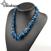 Bohemia Statement Natural Irregular Blue Coral Necklaces Collar Necklaces For Women Party JM-17053