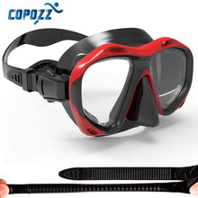 Copozz Brand Professional Skuba Diving Mask Goggles Watersports Equipment (Option:Presbyopia Myopia Lens Replaceable)(China)