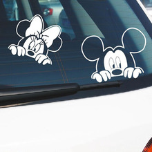Mickey Mouse Car Sticker Cotton Anime Car Vinyl Stickers and Decals for All Cars Minnie And Mickey Car Accessories