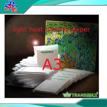 (10 pieces/lot) A3 Size Light Transfer Paper Inkjet Sublimation Light Color Heat Transfer Paper(China)