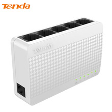 Tenda S105 Ethernet Switch,Mini 5 Port Desktop Ethernet Network Switch,100Mbps LAN Hub,Small and Smart,English/European Firmware(China)