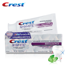 Crest 3D White Brilliance Advanced Whitening Toothpaste Teeth Whitening Anticavity Tooth Paste Squeezer Toothpaste 116g(China)