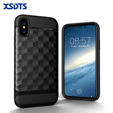 XSDTS For iPhone X 8 3D Drawing dimond Case For iPhone 7 Plus 2 in 1 PC TPU Silicone Back Cover For iPhone 6 6s SE Phone Case(China)