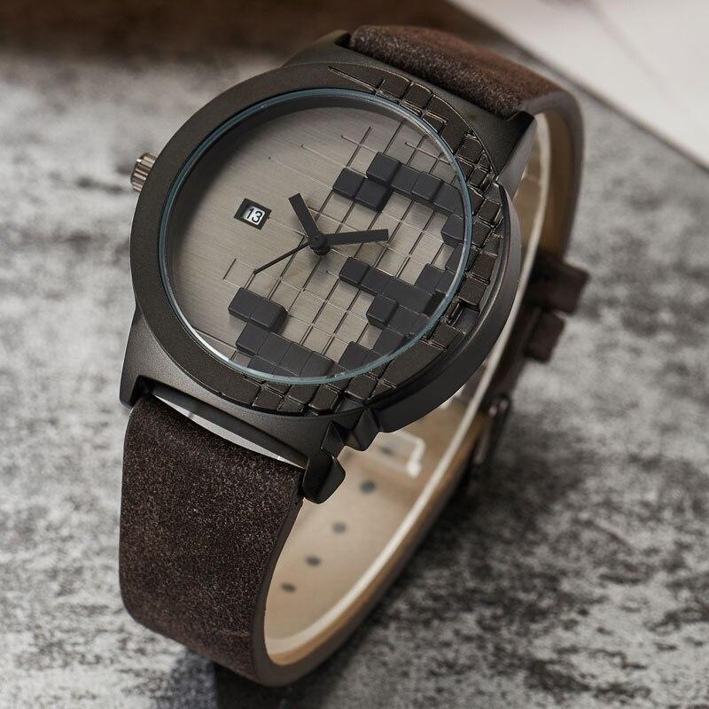 2017 Creative Minimalist Style Watch Mens Three-dimensions Waterproof Date Sport Quartz Watch Women Men Lover Unique Watch Gifts<br>