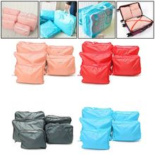 Portable Nylon Travel Storage Bags 5Pcs/Set Clothes Underwear Socks Packing Cube Storage Bags Pouch Travel Luggage Organizer
