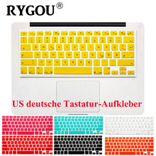 "US Layout German Letters Deutsche Alphabet Keyboard Stickers for Macbook Pro 13"" 15"" 17""/Macbook Air 13 Silicone keyboard Cover(China)"