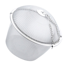 SZS Hot Extra Large Stainless Steel Twist Lock Mesh Tea Ball Tea Infuser with Hook Chain(China)